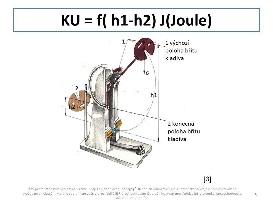 KU = f( h1-h2) J(Joule) [3]